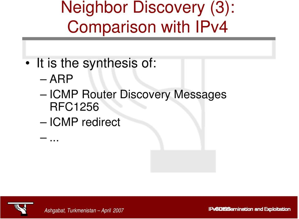 synthesis of: ARP ICMP Router