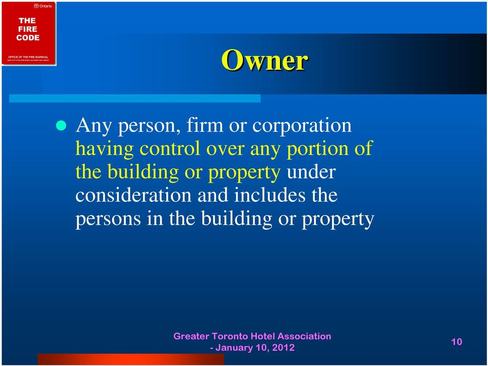 building or property under consideration