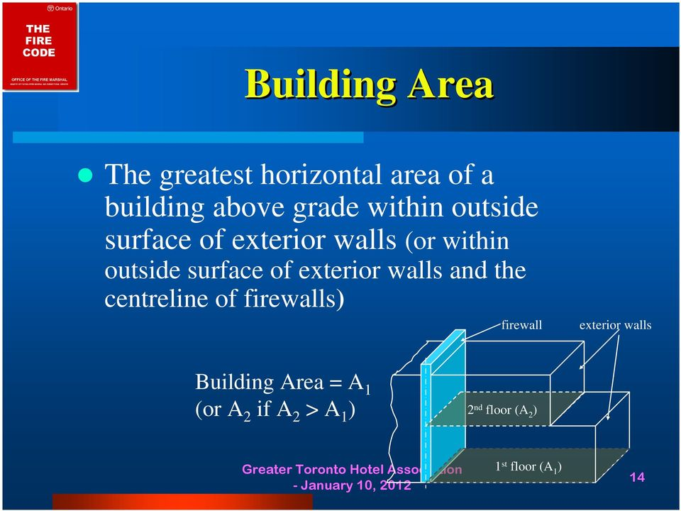 exterior walls and the centreline of firewalls) firewall exterior walls