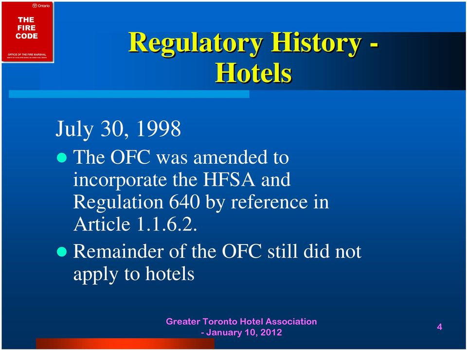Regulation 640 by reference in Article 1.1.6.2.