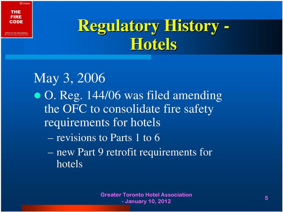fire safety requirements for hotels revisions to