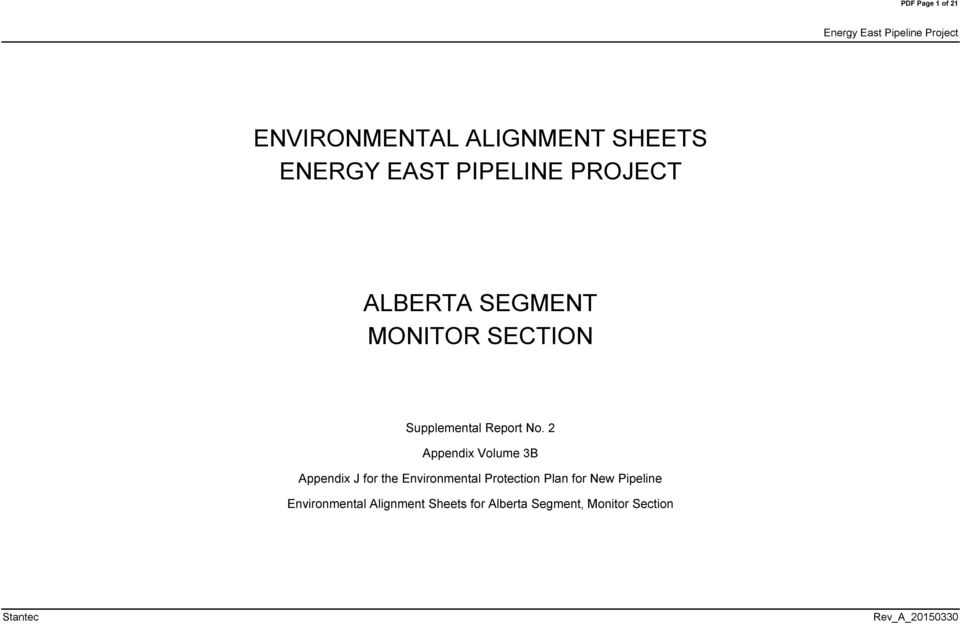 2 Appendix olume 3B Appendix J for the Environmental Protection Plan for New
