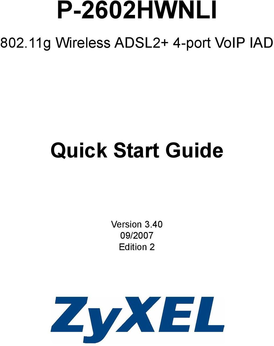4-port VoIP IAD Quick
