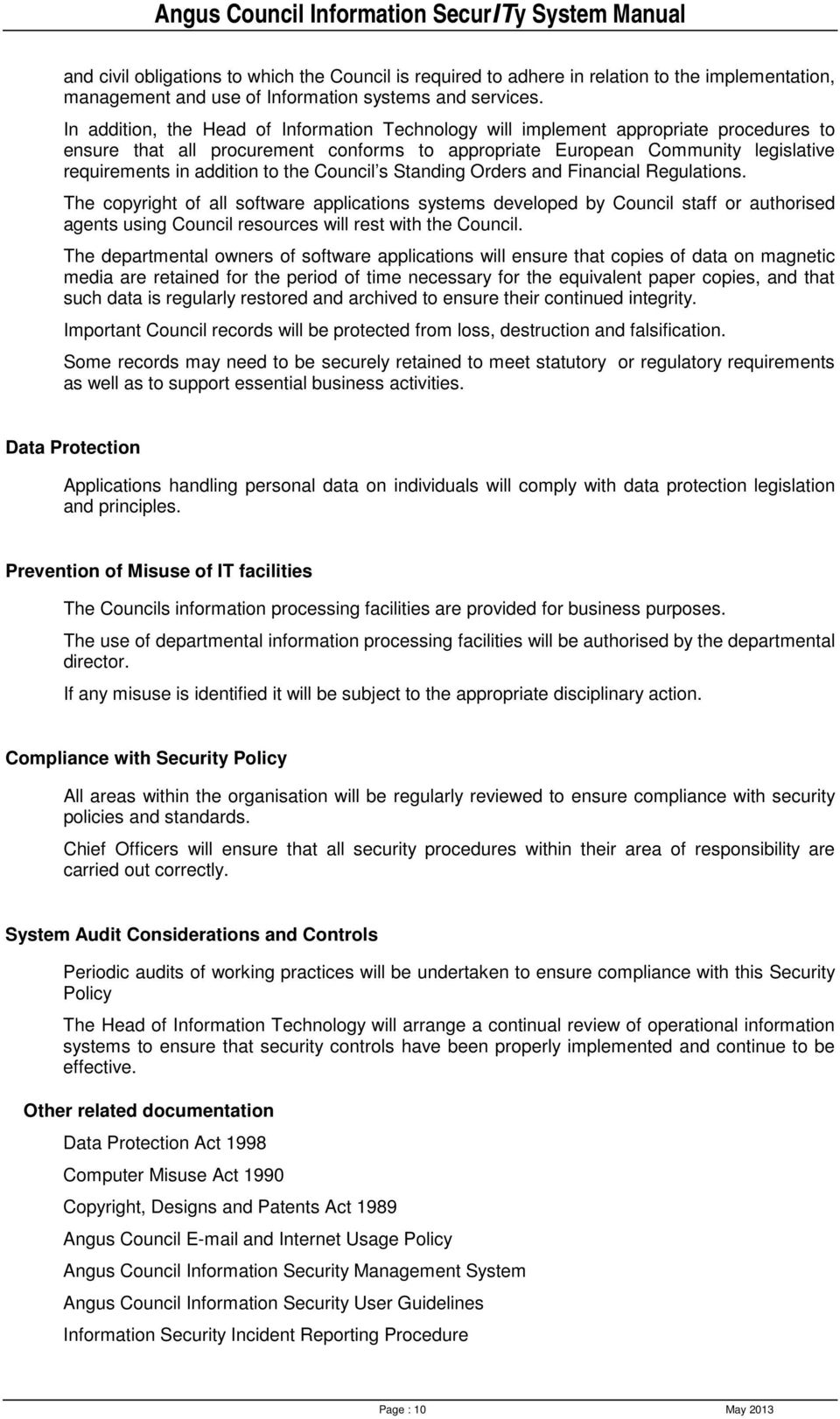 the Council s Standing Orders and Financial Regulations.