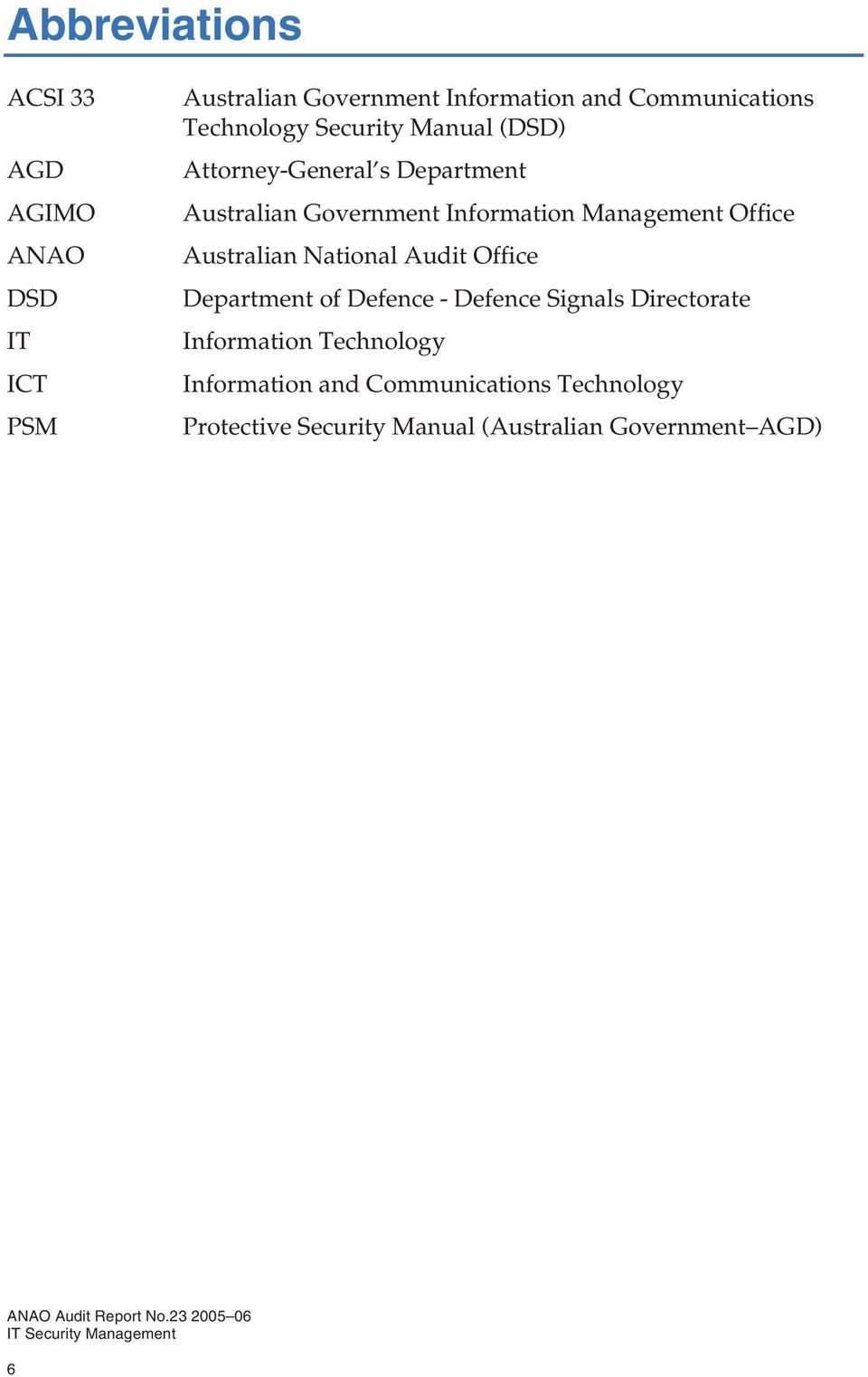 Management Office Australian National Audit Office Department of Defence - Defence Signals Directorate