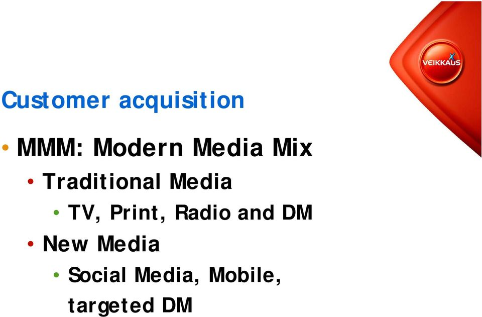 Media TV, Print, Radio and DM