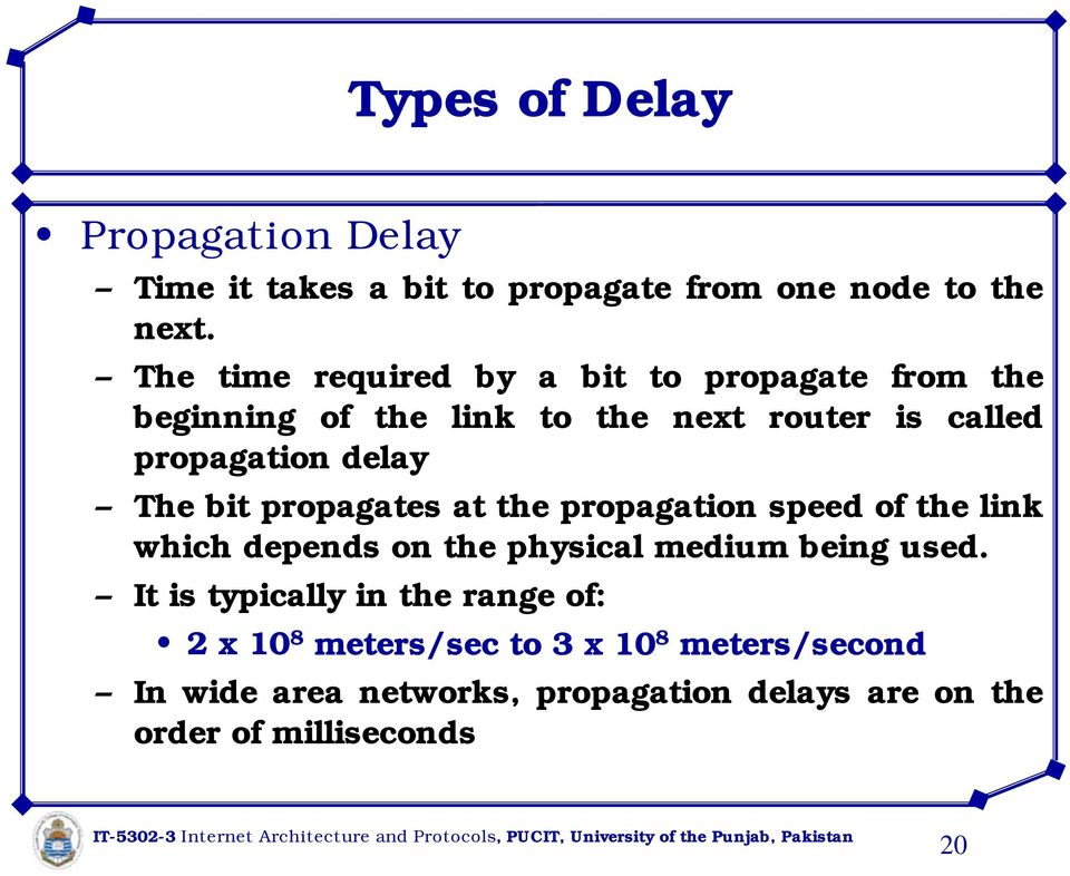 The bit propagates at the propagation speed of the link which depends on the physical medium being used.