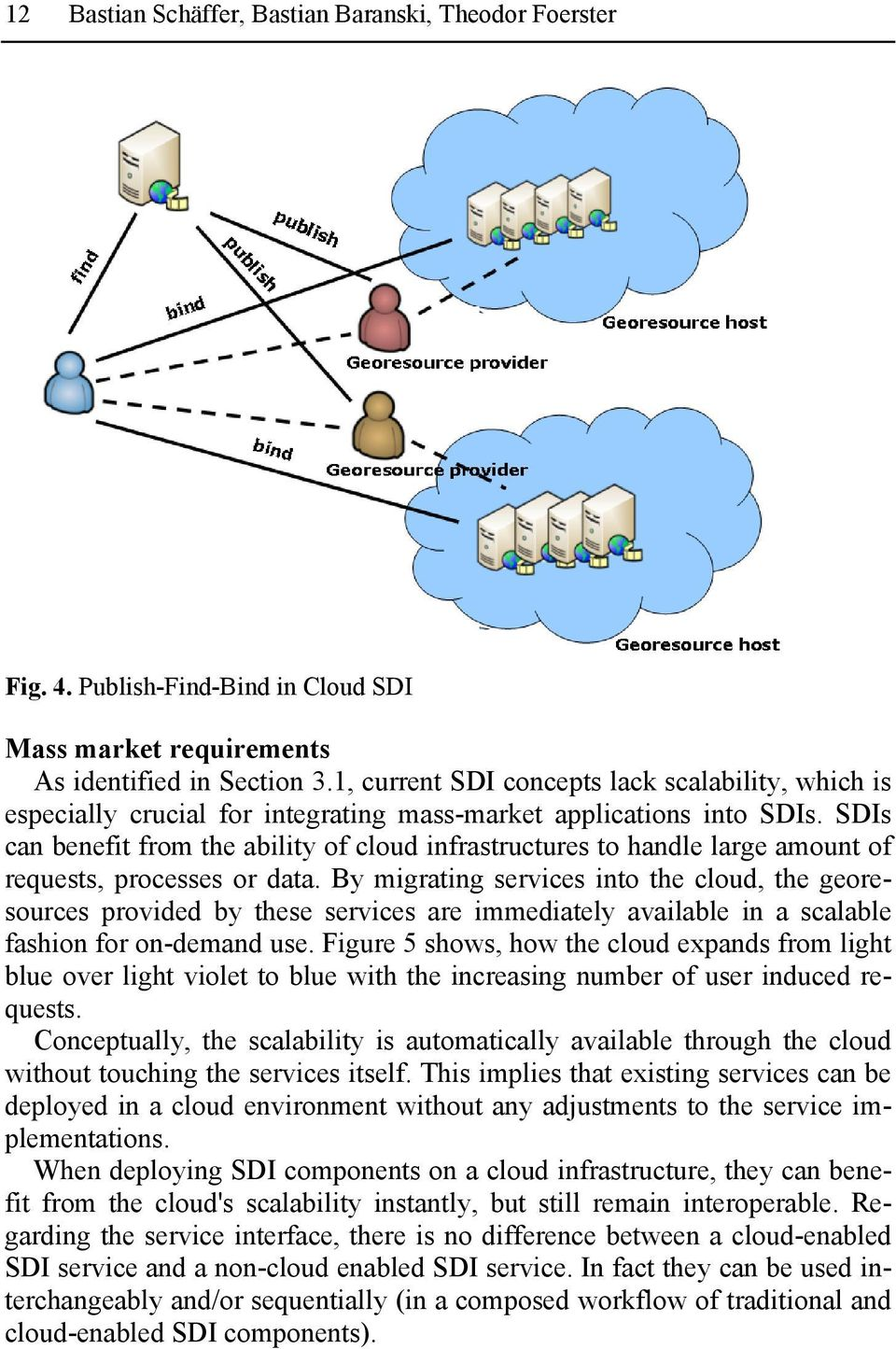 SDIs can benefit from the ability of cloud infrastructures to handle large amount of requests, processes or data.