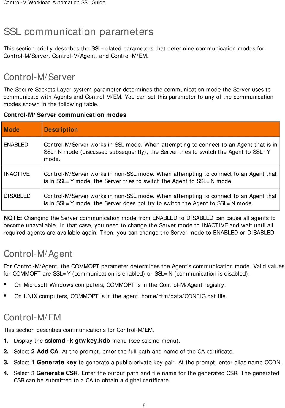 Control-m workload automation ssl guide may pdf.