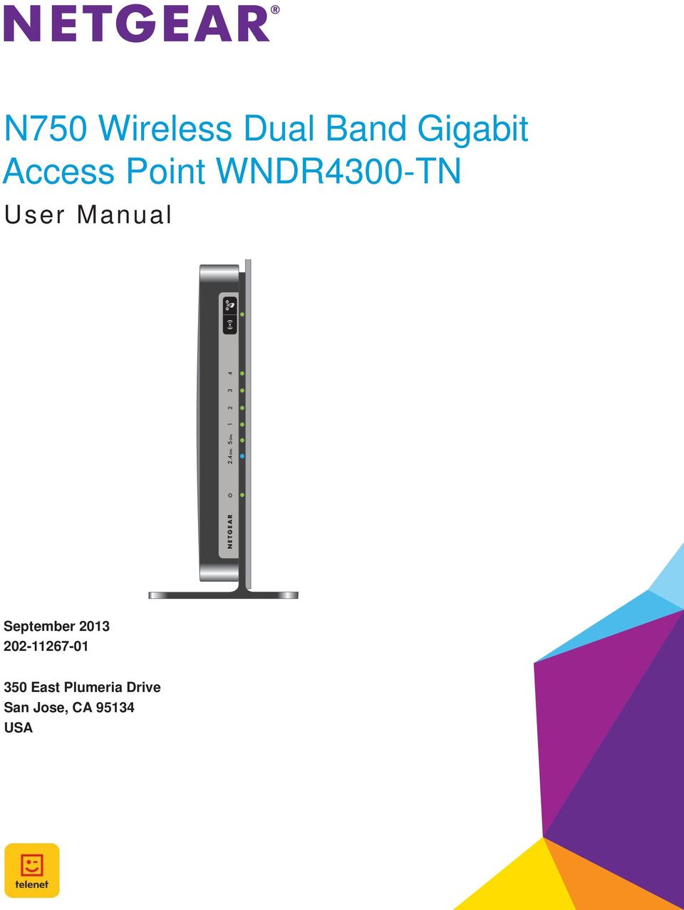 N750 Wireless Dual Band Gigabit Access Point WNDR4300-TN - PDF
