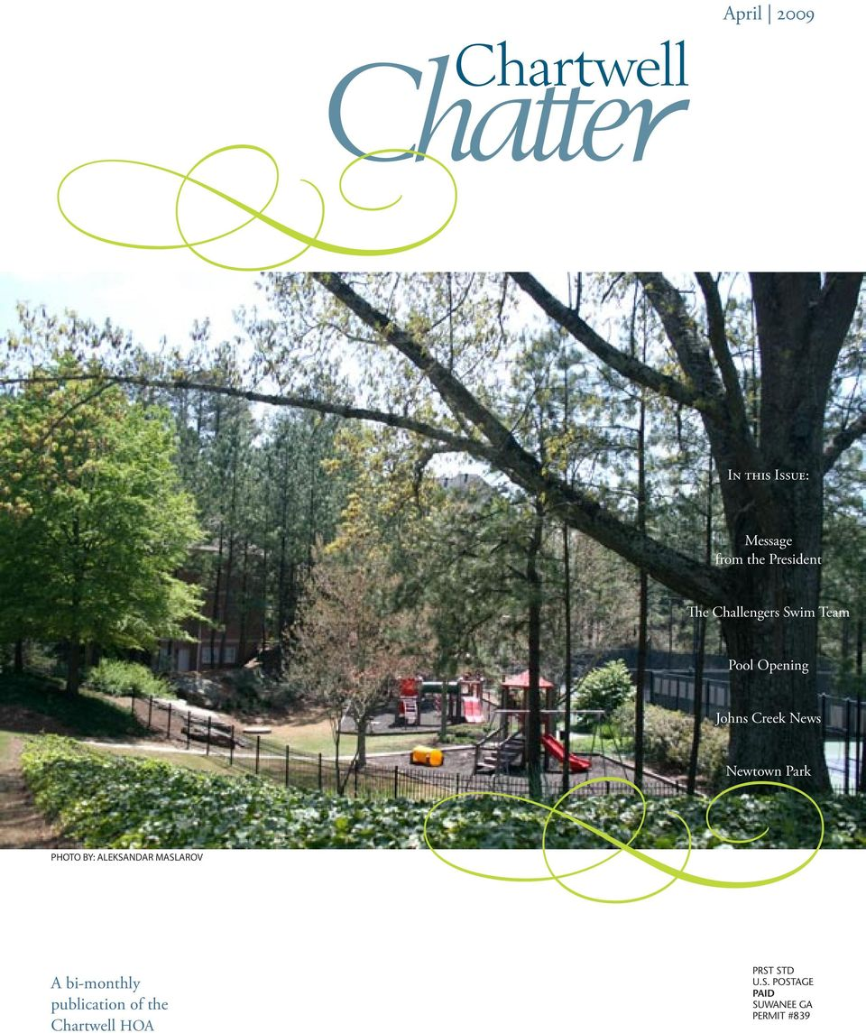 Chartwell April A Bi Monthly Publication Of The Chartwell Hoa In This Issue Message From The