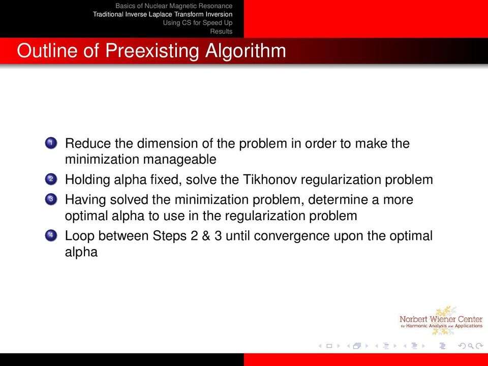 problem 3 Having solved the minimization problem, determine a more optimal alpha to use