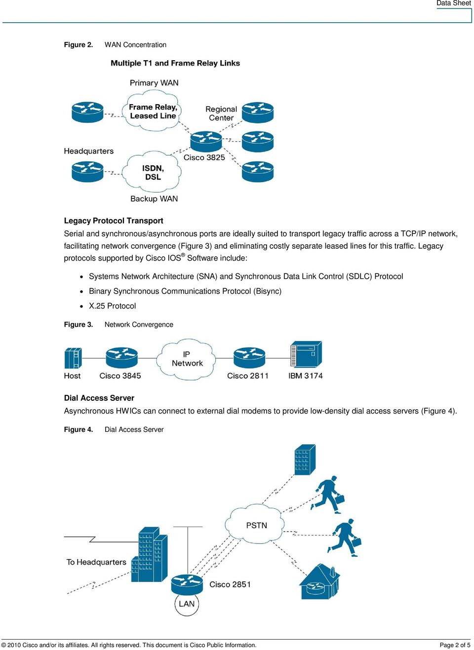 (Figure 3) and eliminating costly separate leased lines for this traffic.