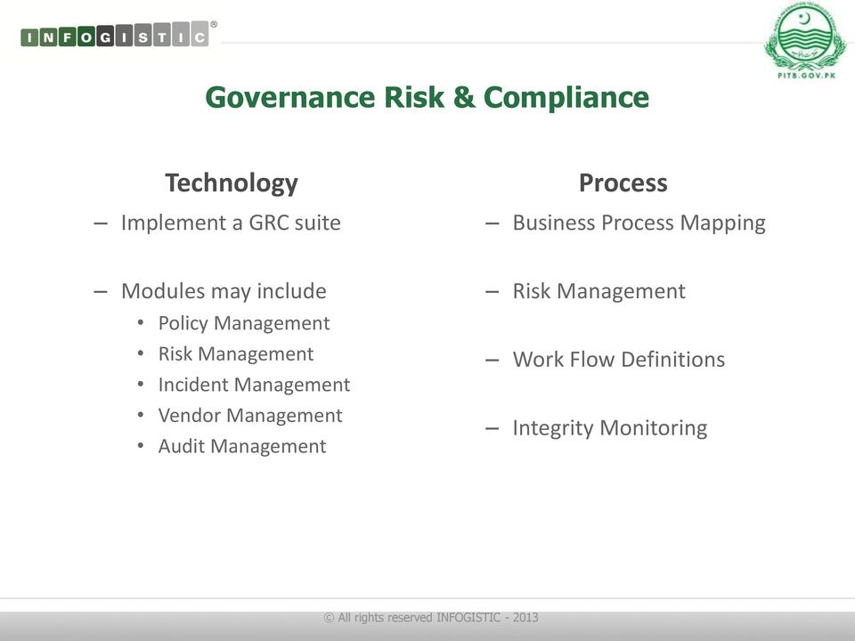 Management Risk Management Incident Management Vendor Management