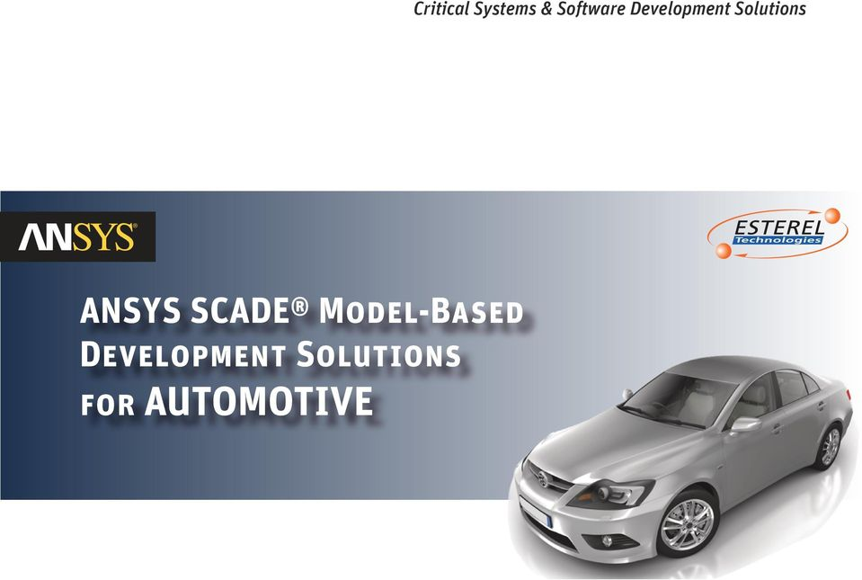 AUTOMOTIVE Critical Systems