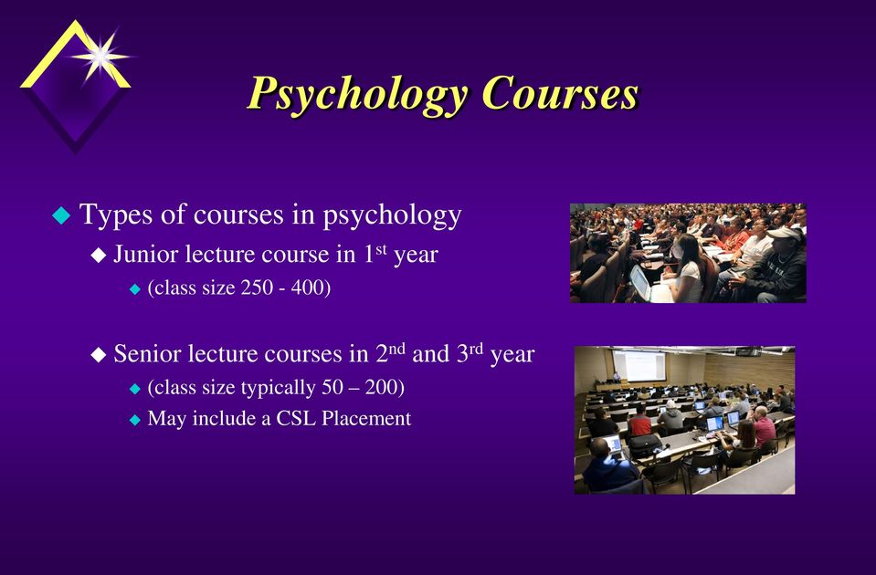250-400) Senior lecture courses in 2 nd and 3 rd