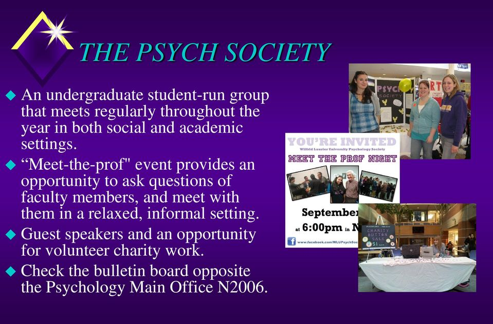 "Meet-the-prof"" event provides an opportunity to ask questions of faculty members, and meet with"