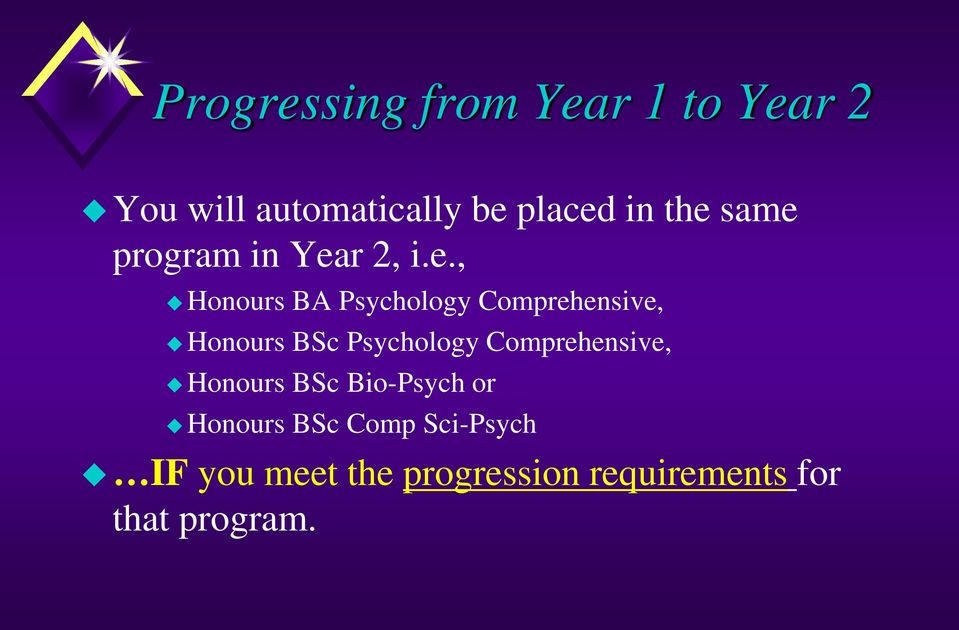 Honours BSc Psychology Comprehensive, Honours BSc Bio-Psych or Honours