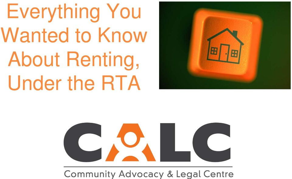 About Renting,