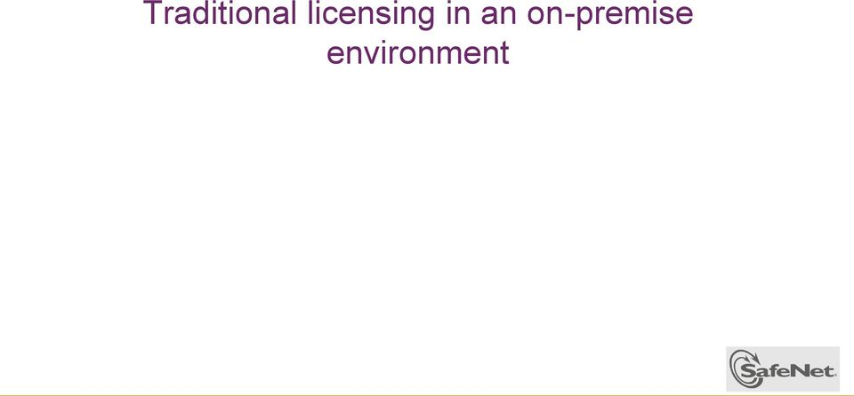 Traditional licensing