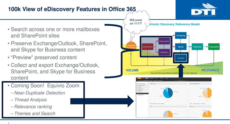 Collect and export Exchange/Outlook, SharePoint, and Skype for Business content Coming Soon!