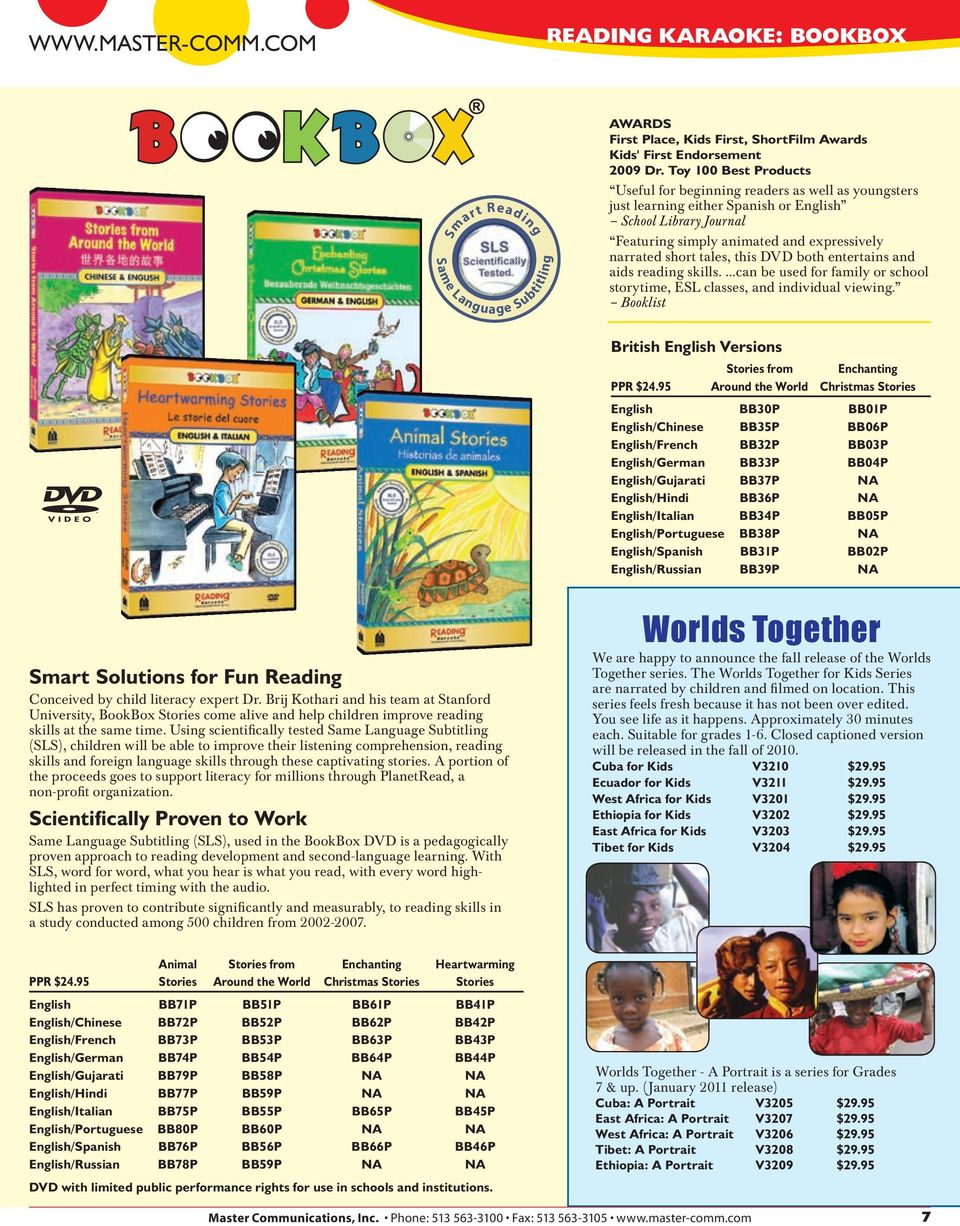 tales, this DVD both entertains and aids reading skills....can be used for family or school storytime, ESL classes, and individual viewing. Booklist British English Versions PPR $24.