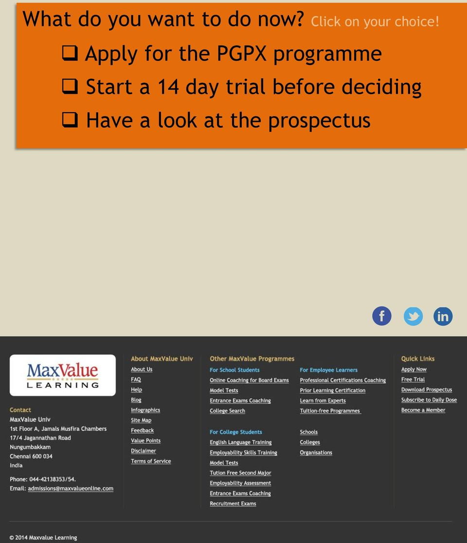 Apply for the PGPX programme Start a