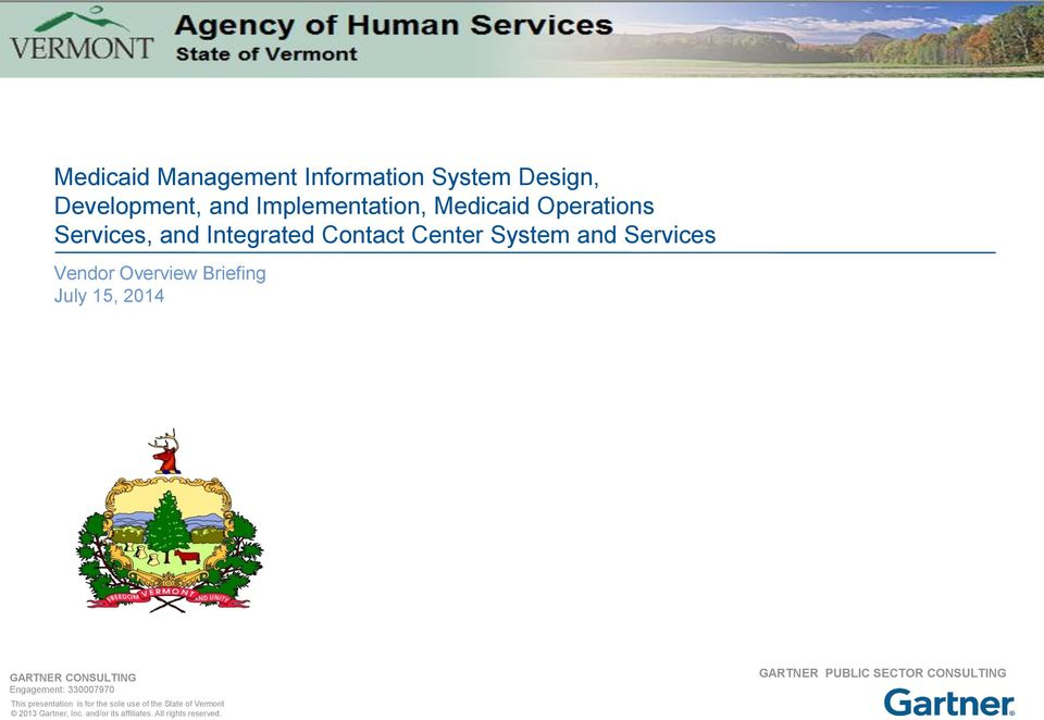 Integrated Contact Center System and Services Vendor Overview