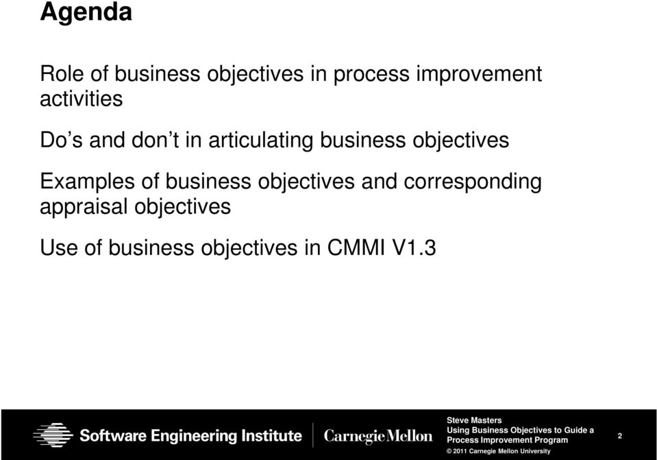 objectives Examples of business objectives and