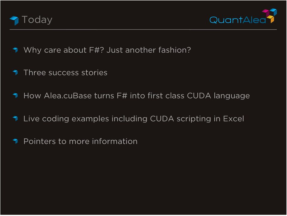 cuBase turns F# into first class CUDA language!