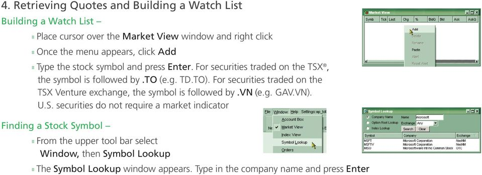 For securities traded on the TSX