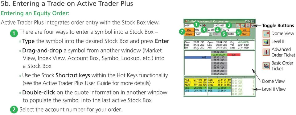 another window (Market View, Index View, Account Box, Symbol Lookup, etc.