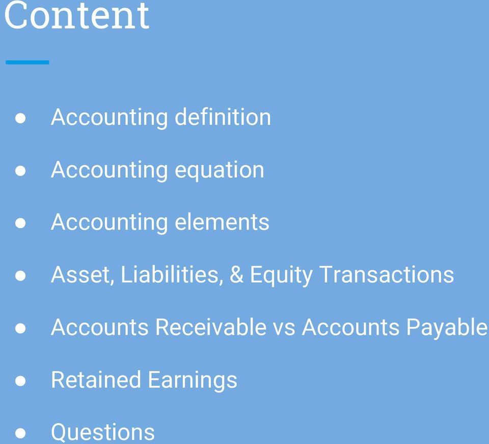 Liabilities, & Equity Transactions Accounts