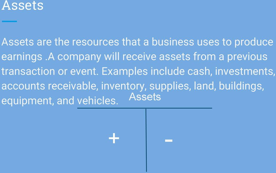 a company will receive assets from a previous transaction or event.