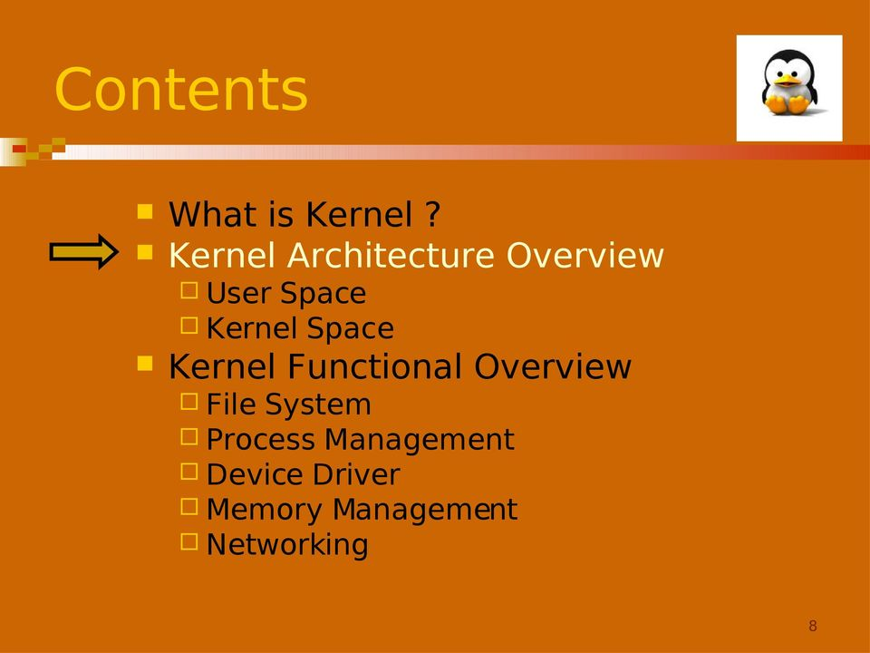 Kernel Space Kernel Functional Overview File