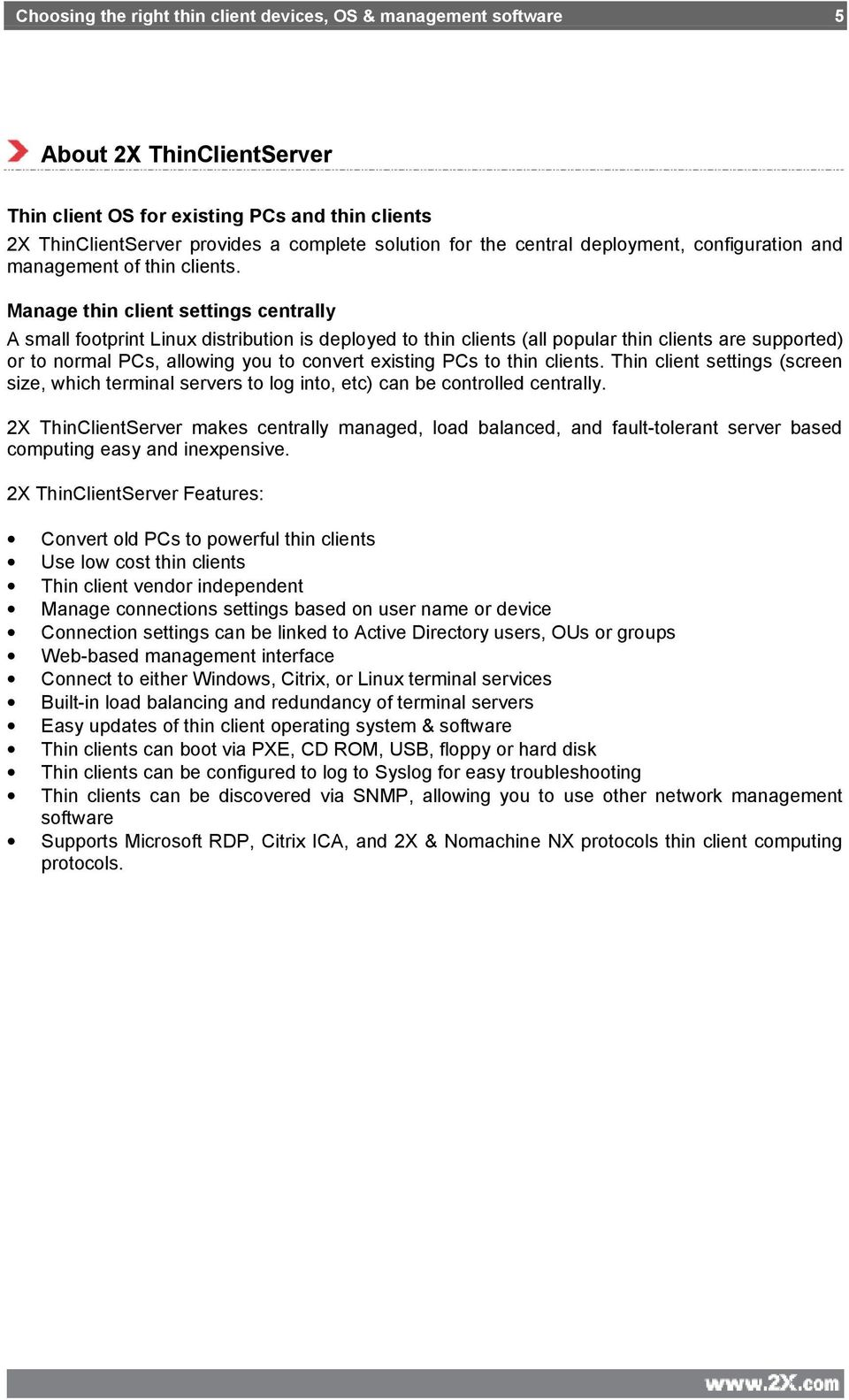 Choosing the right thin client devices, OS & management software - PDF