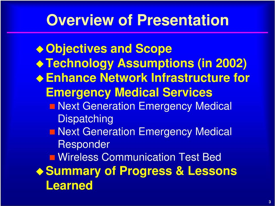 Generation Emergency Medical Dispatching Next Generation Emergency Medical