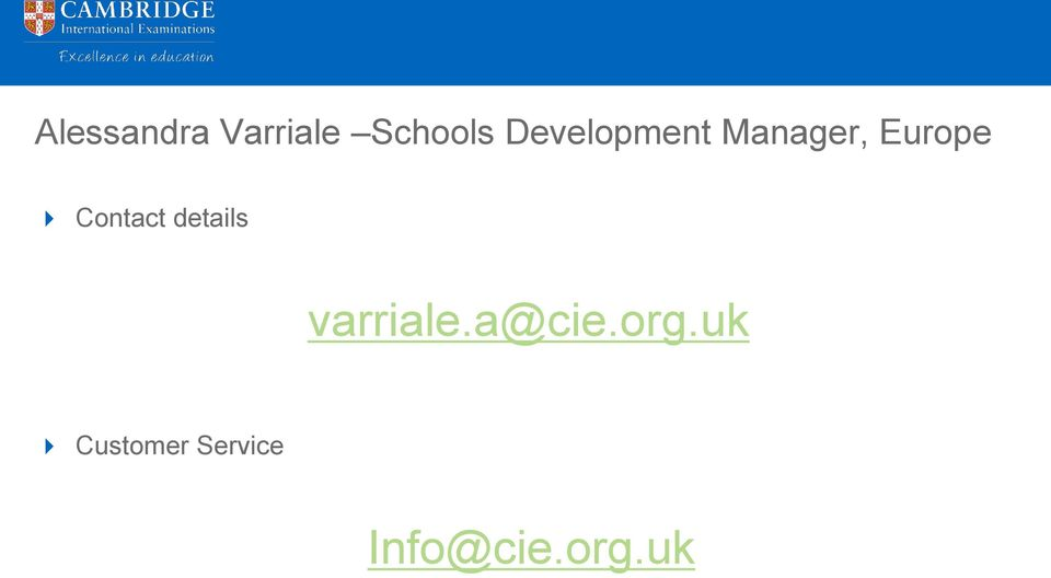Contact details varriale.a@cie.