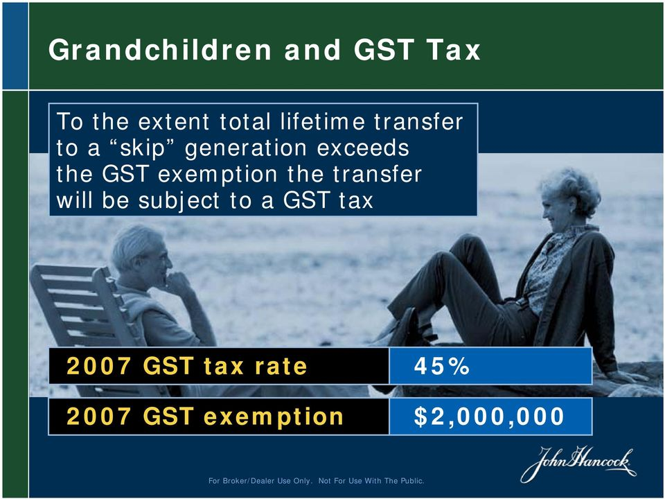 GST exemption the transfer will be subject to a