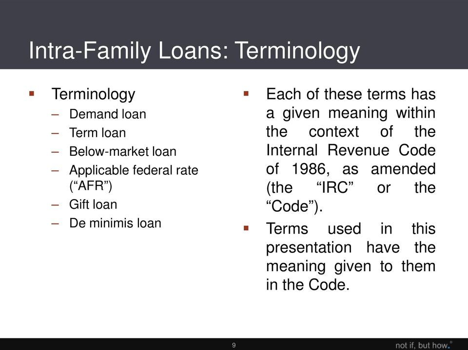 10 IRC 7872(e) and (f) - Definitions Demand loan: generally, any loan ...