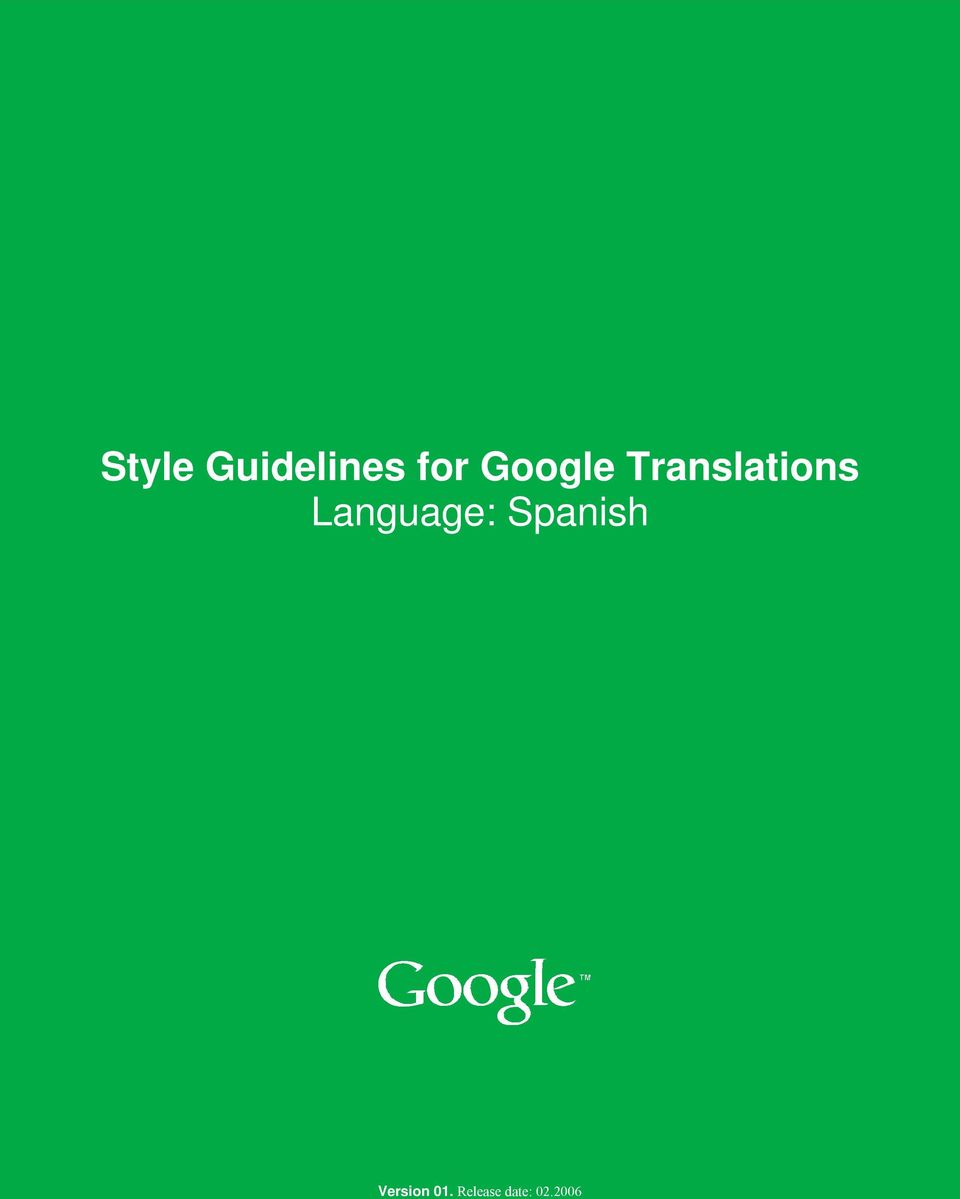 2006 Style Guidelines Style Guidelines  2006 0