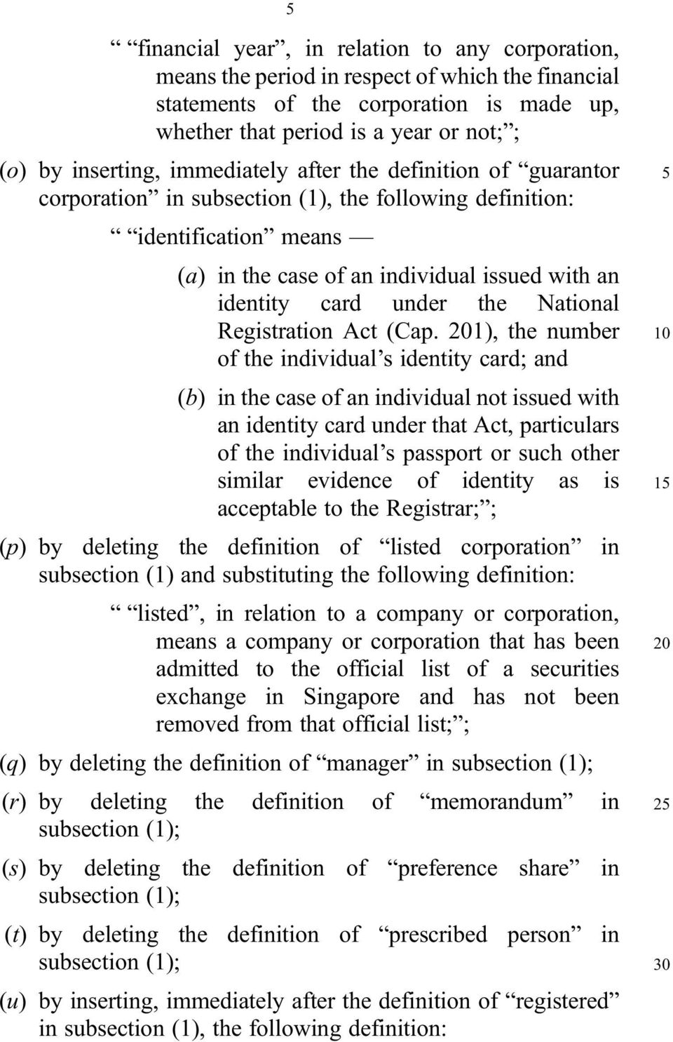 under the National Registration Act (Cap.