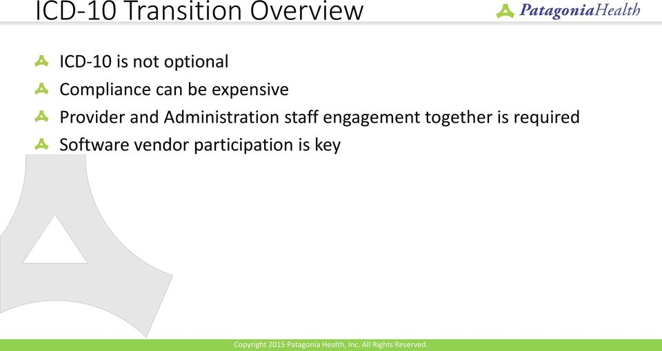 Provider and Administration staff engagement