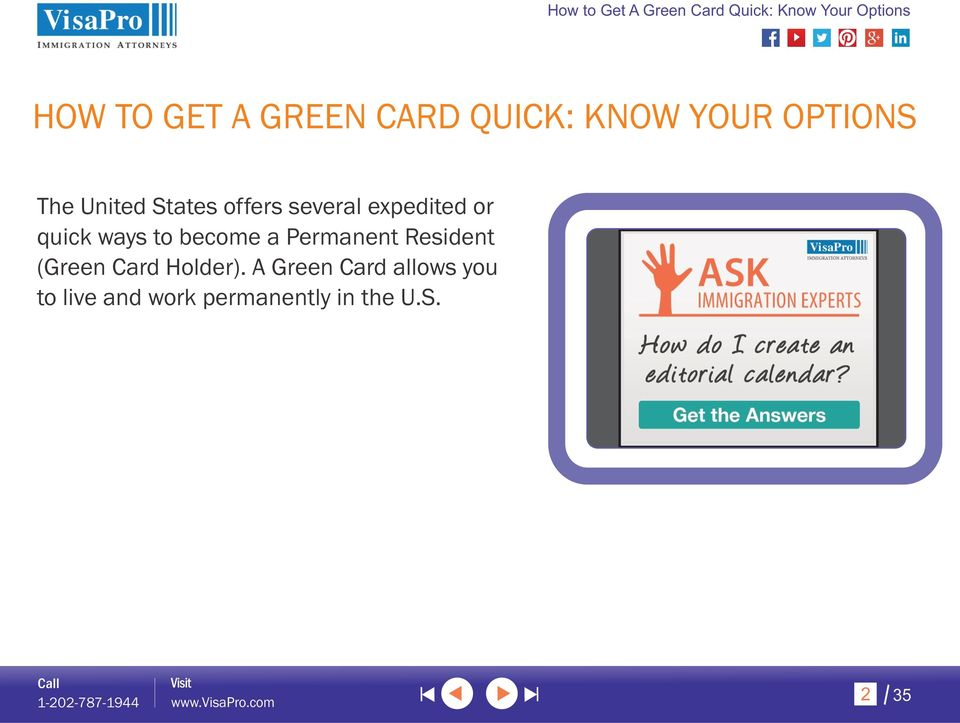 become a Permanent Resident (Green Card Holder).