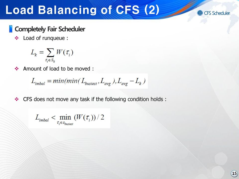 moved : CFS does not move any task