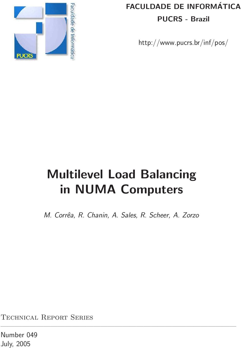 br/inf/pos/ Multilevel Load Balancing in NUMA