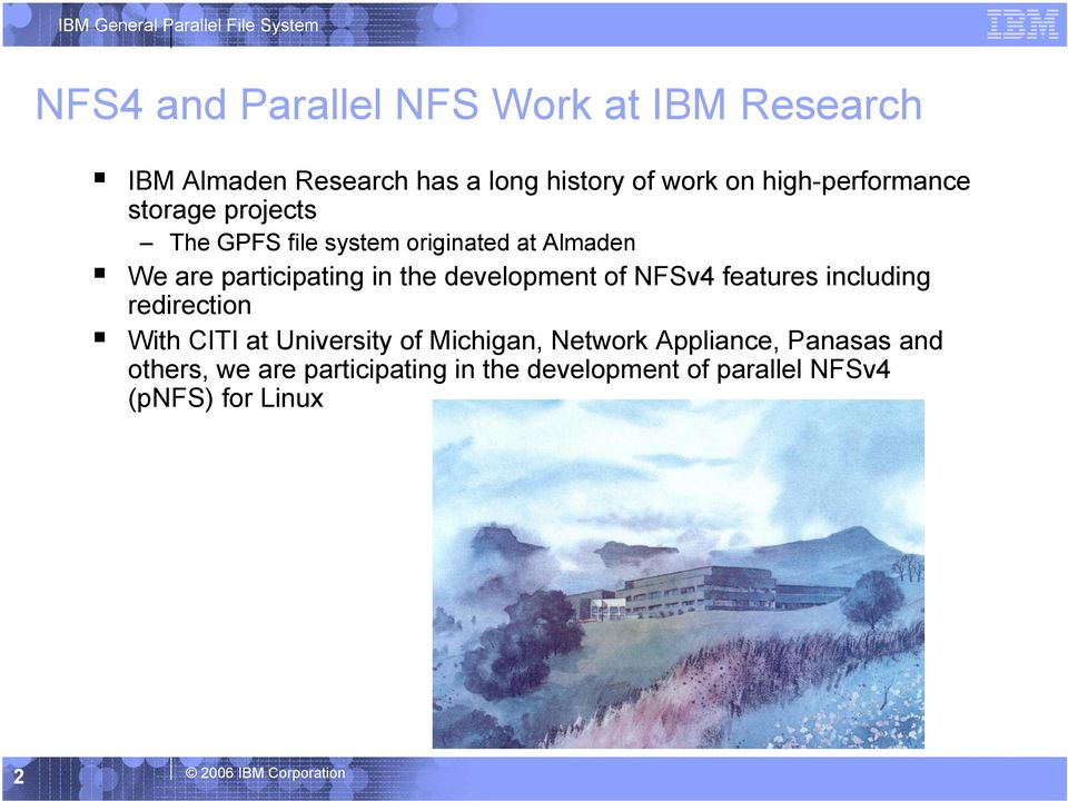 development of NFSv4 features including redirection With CITI at University of Michigan, Network