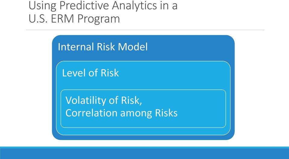 Model Level of Risk Volatility