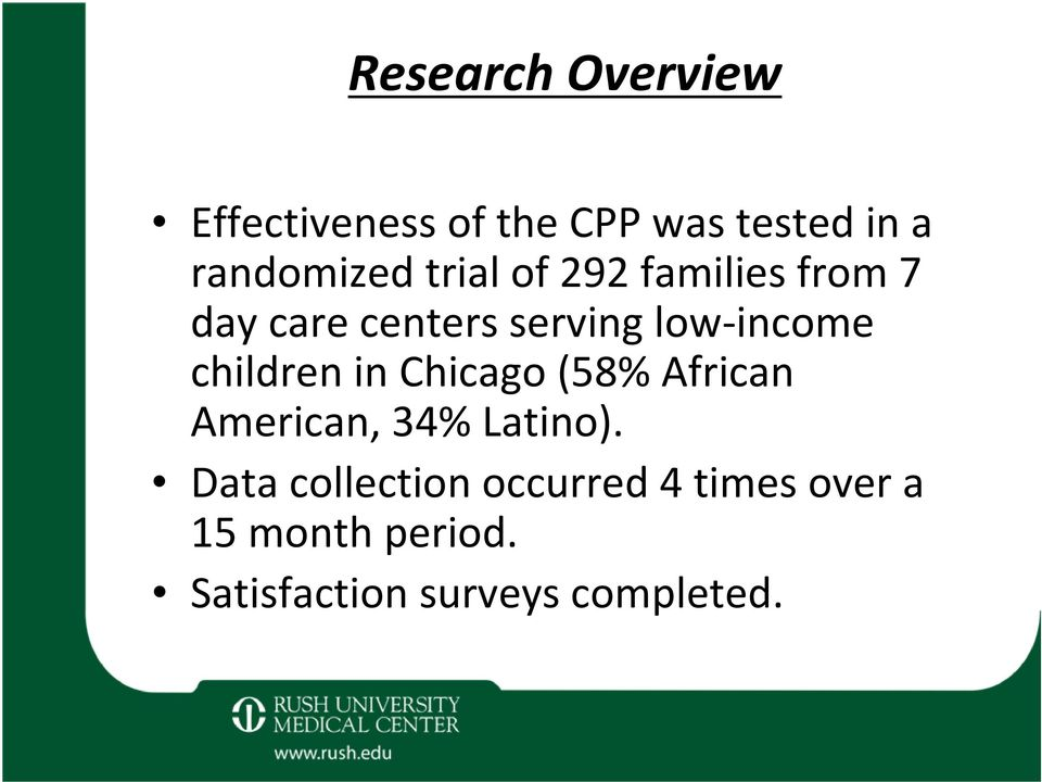 children in Chicago (58% African American, 34% Latino).