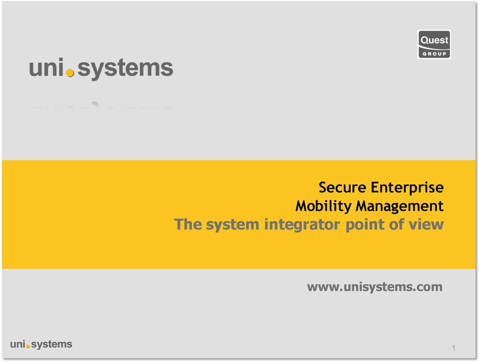 system integrator point